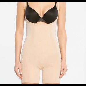 Spanx OnCore Open-Bust Mid-Thigh Bodysuit